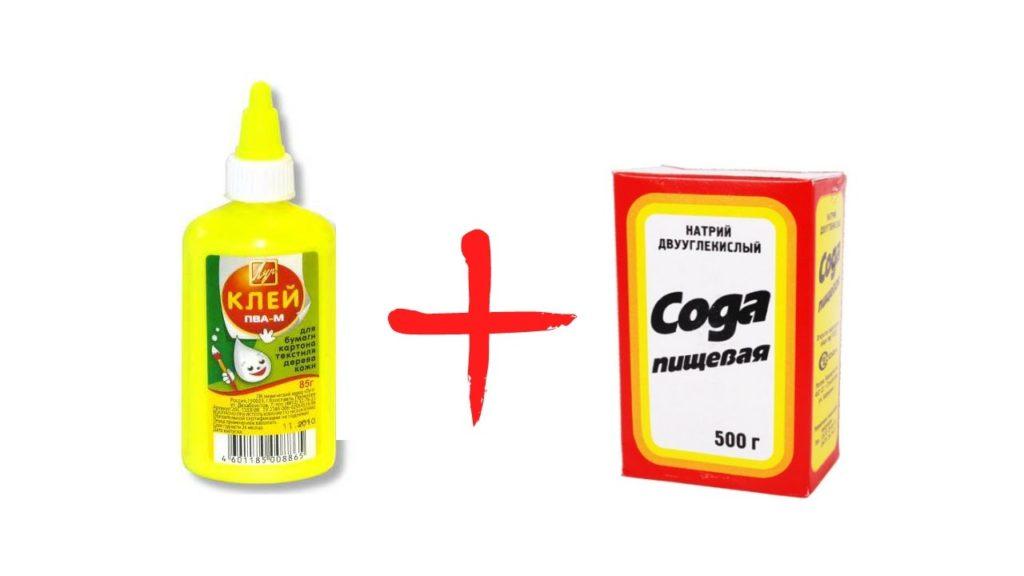 Клей+сода фото